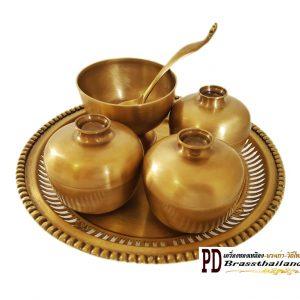 ถวายข้าวพระพุทธ ทองเหลือง