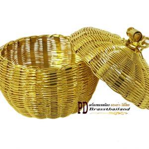 กระปุกกลมทองเหลือง 1.5 นิ้ว