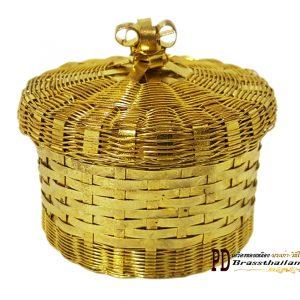"""กล่องกลมทองเหลือง2.5""""นิ้ว"""