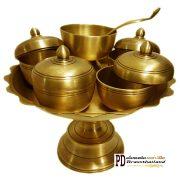 ชุดถวายข้าวพระพุทธทองเหลือง เก่าโบราณ Set y