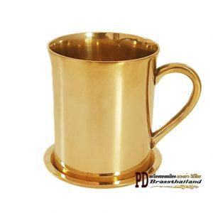 แก้วน้ำทองเหลือง มือจับ Handle Glass