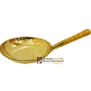 กระทะทองเหลืองก้นแบน Griddle Griddle handle brass-01