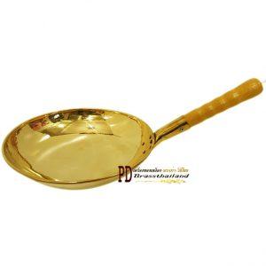 กระทะทองเหลืองก้นแบน Griddle handle brass-02