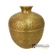 โถทองเหลือง ตอกลาย jar lamud brass