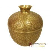 โถละมุดทองเหลือง ตอกลาย jar lamud brass