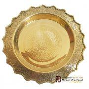 พานทองเหลือง 12 นิ้ว ลายช้างมงคล
