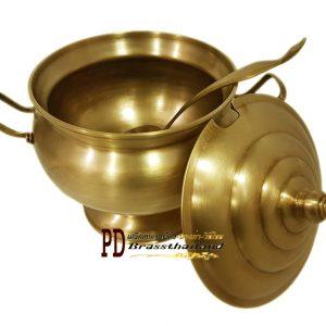 ชุดหม้อข้าวทองเหลืองลายเรียบ