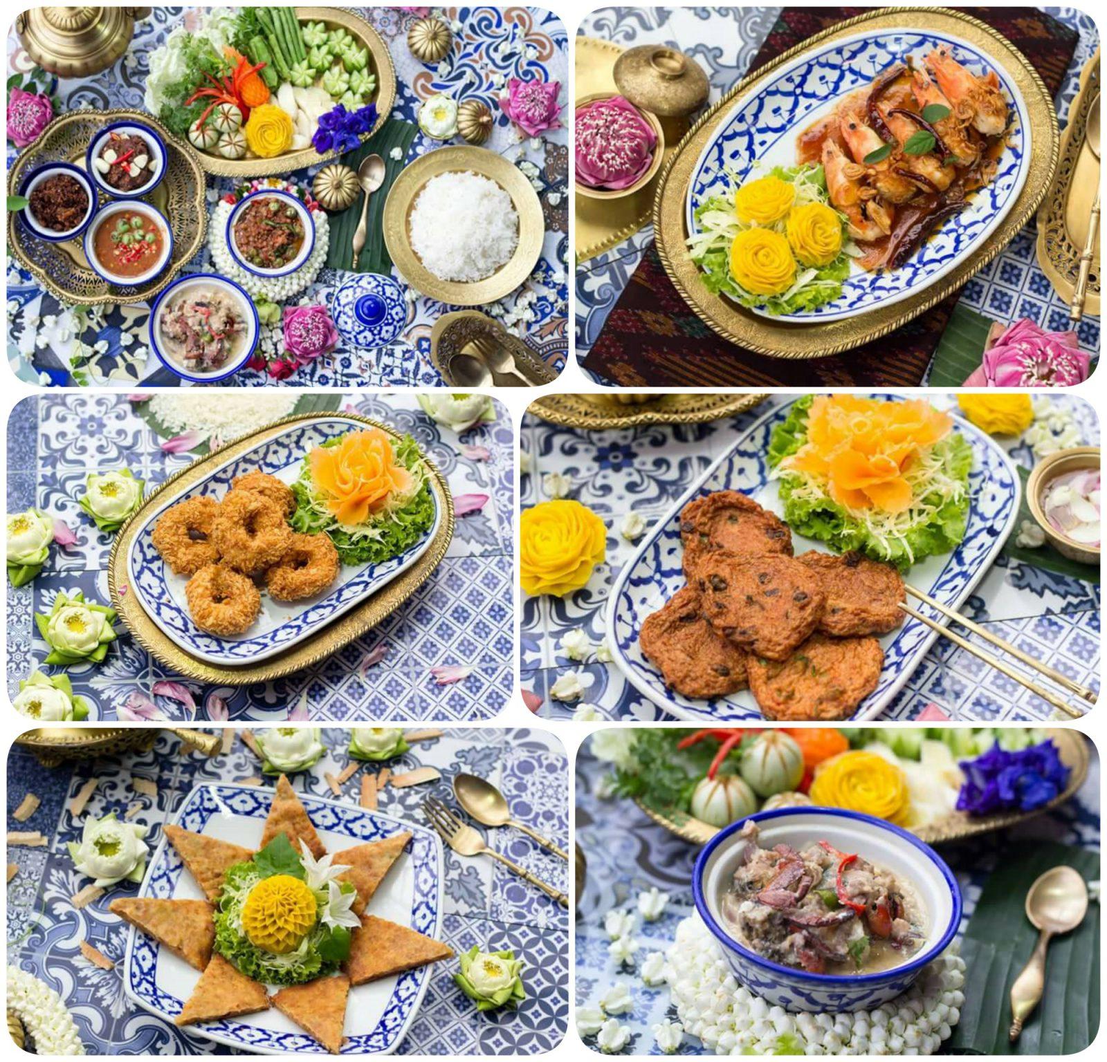 ชุดครัวทองเหลืองตกแต่งบนสำรับอาหารไทยและต่างประเทศ เลิศหรู มีคุณค่าทางวัฒนธรรมไทย