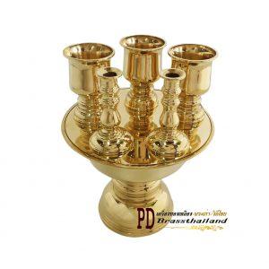 เครื่องทองน้อยทองเหลือง เครื่องสักการะบูชา ราคา